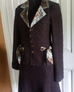 Nanette Lepore Brown Skirt Set